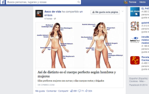 Captura de pantalla en Facebook