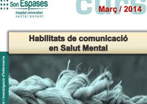 """Cartel del Curso """"Habilidades de Comunicación en Salud Mental"""""""