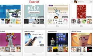 algunos de mis Tableros en Pinterest