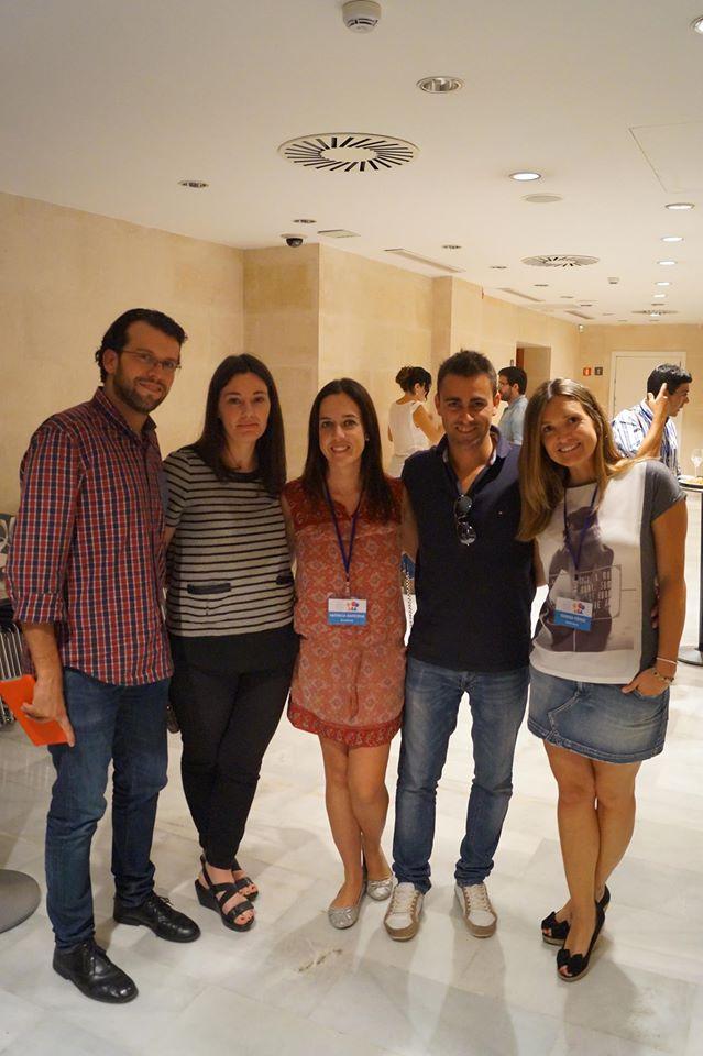 Foto con @ipatri de @sozialmas y mis compañeros de Jornadas: @antoniomascaro @marlennovas y mi @jurraga