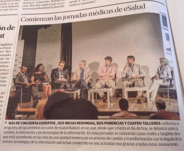 Foto al recorte de prensa en Diario de Mallorca donde se habla de las Jornadas
