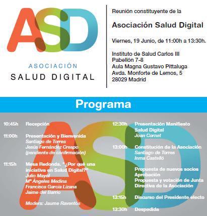 Programa de la Jornada de Salud Digital