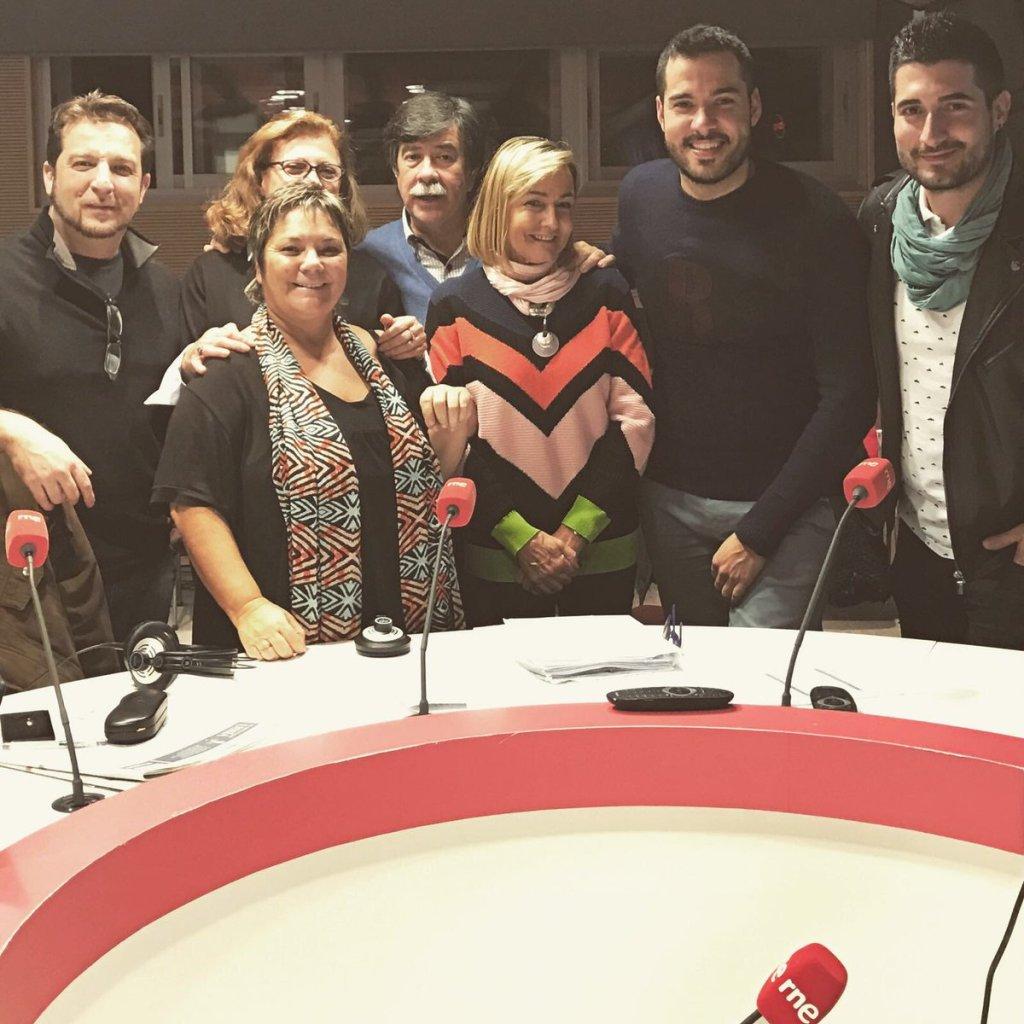 Foto de los asistentes al programa de La noche en Vela, foto de @soriano_p