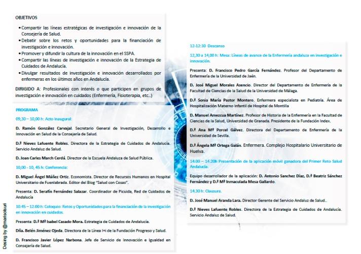 Programa de la Jornada: fuente @Picuida